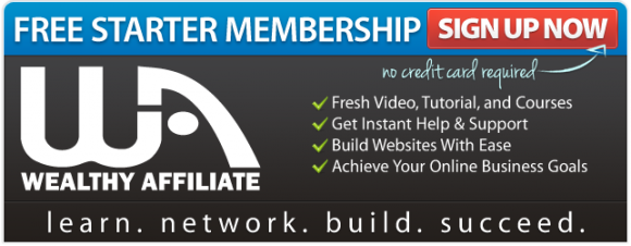 Wealthy Affiliate Free Starter Membership Sign Up