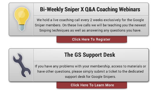 George Brown Google Sniper Support