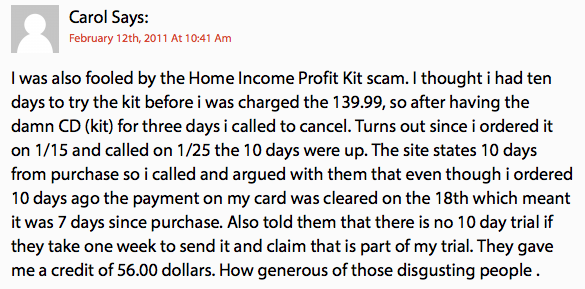 Secure Home Income Kit Review - Victim 1