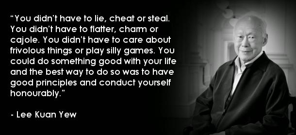 Lee Kuan Yew Quote
