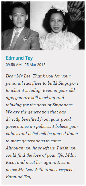 Tribute LKY
