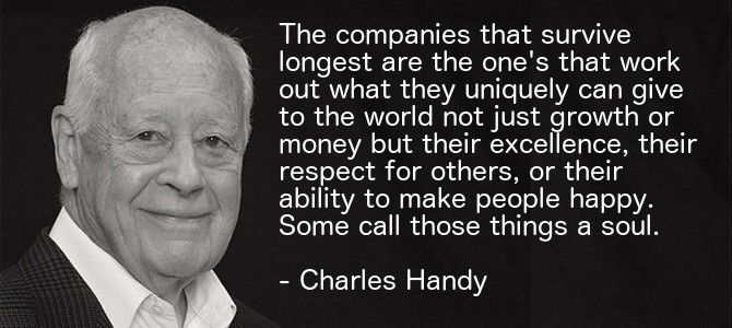 Charles Handy – The Second Curve – Thoughts on Reinventing Society