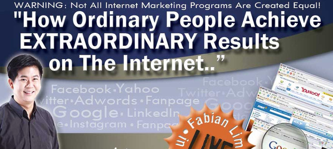 Fabian Lim Internet Marketing Course – Preview Seminar