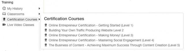 Wealthy Affiliate University - Certification Courses