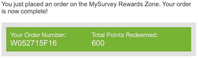 My Survey Redeem points
