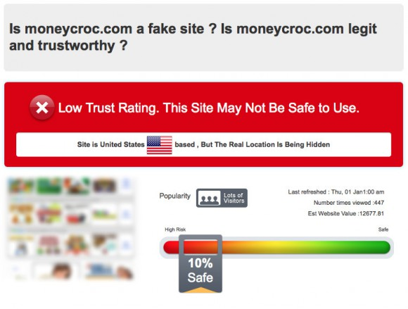 Moneycroc low trust rating