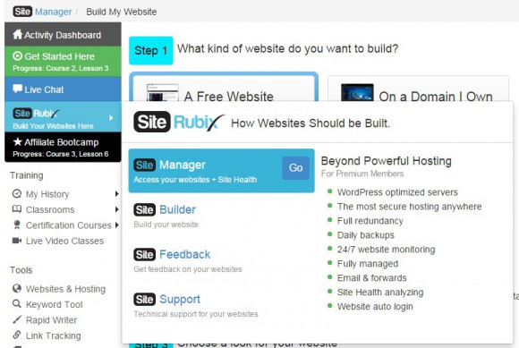 SiteRubix Domain Access
