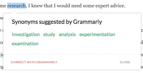 What is Grammarly? - Free grammar checker tool online! - Free Synonyms Suggestions