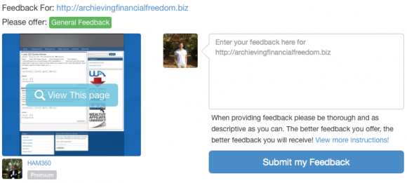 What is Site Feedback - 3