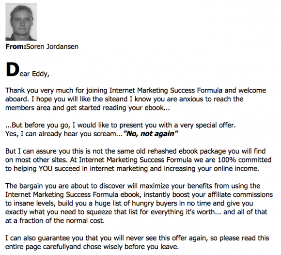 Internet Marketing Success Formula One Time Offer 2