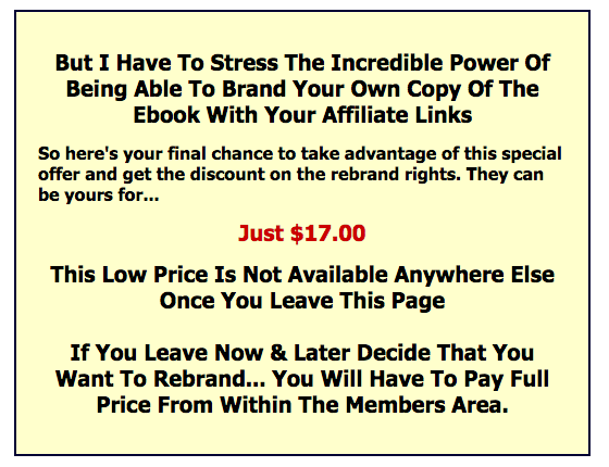 Internet Marketing Success Formula final offer