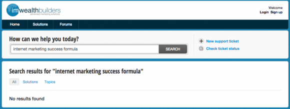 Internet Marketing Success Formula support