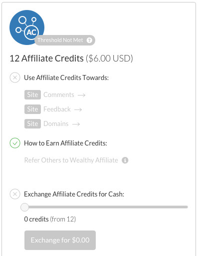 Wealthy Affiliate Credit System - Affiliate Credits