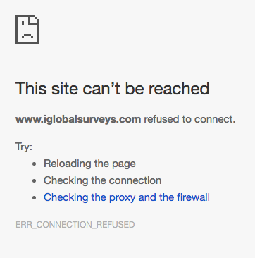iGlobal Surveys Review - Server Down