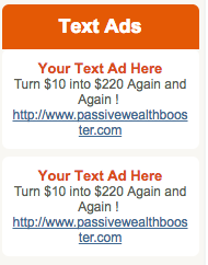 Passive Wealth Booster Review-text ads