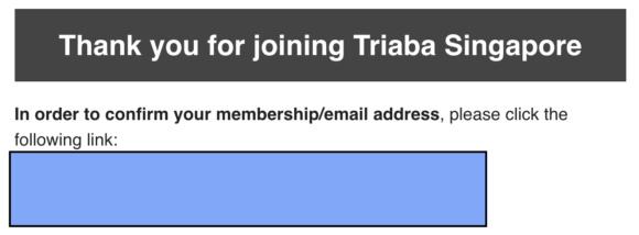 Triaba Review - Confirmation